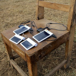Solar battery chargers can charge cell phones and electronic devices.