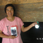 "Aunty Olive receives lights from ""Friends of ENCA Farms"" in the Philippines"