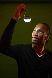 Soccer star Didier Drogba from Cote d'Ivoire