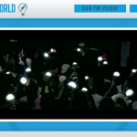 """A Crowd of Children Illuminated by the Nokero Crestone (N200) in the """"Powerless"""" video by Linkin Park"""