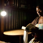 The N220 illuminates a Kenyan woman's home