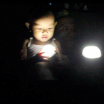 Solar Champion film producer, Gerry Balasta, gives lights to Philippines