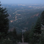 Nighttime hike up Manitou Incline in Colorado