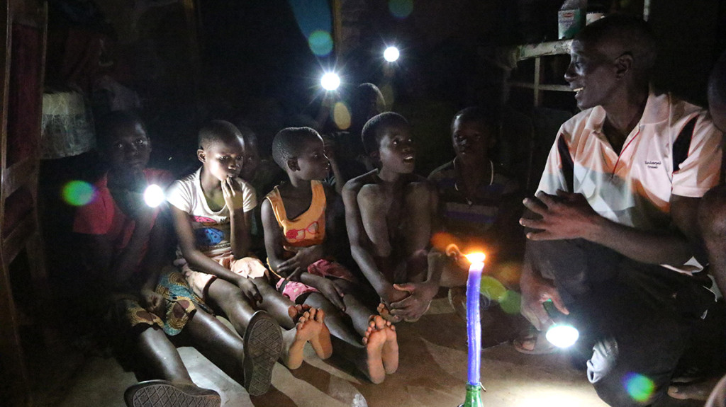These school children in Zimbabwe now have solar lights to study by rather than by the pale light of a candle.